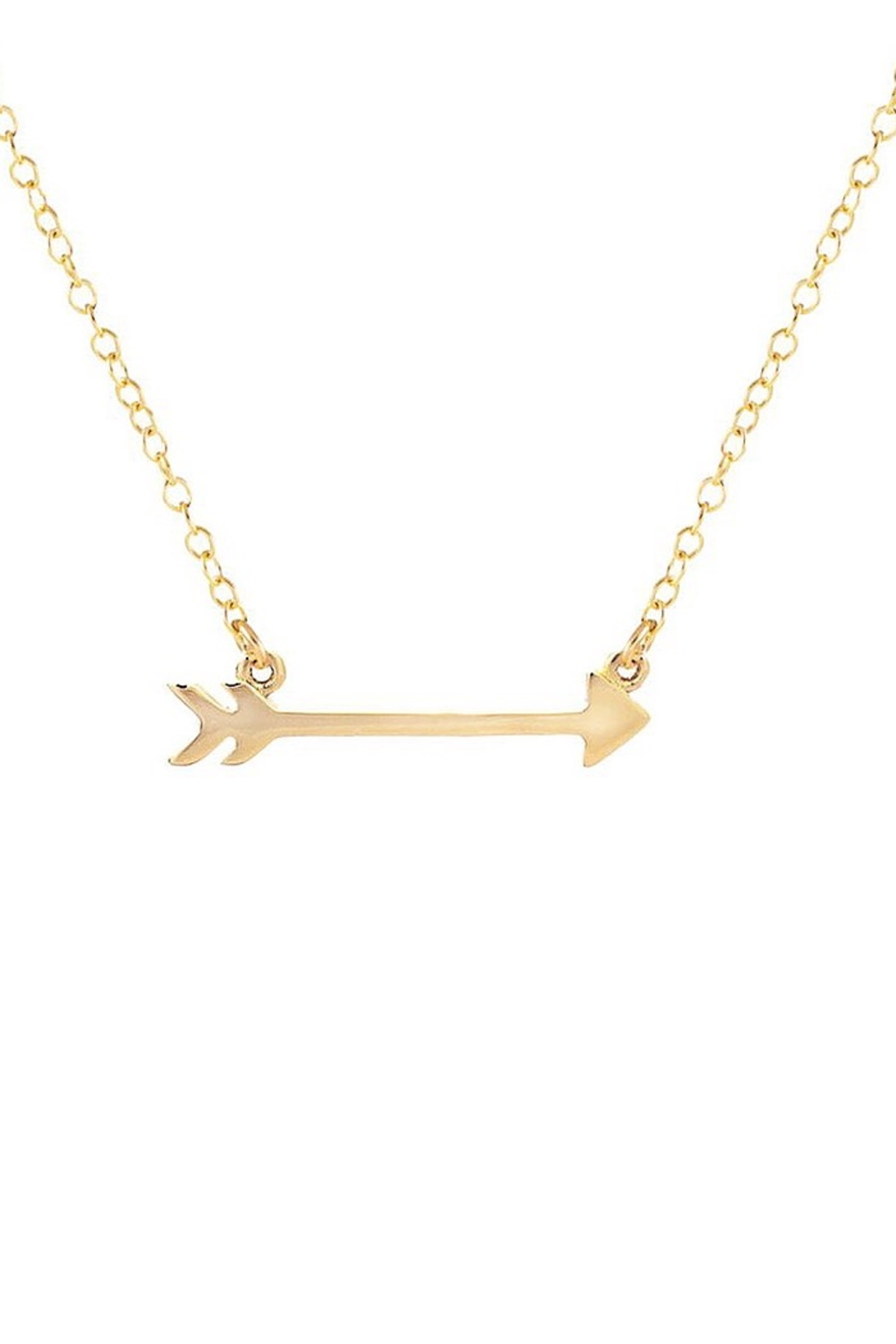 Kris Nations Arrow Charm Necklace - Front Full Image