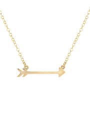 Kris Nations Arrow Charm Necklace - Front full body