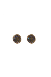 Art & Soul Beads Brass Druzy Earrings - Product Mini Image