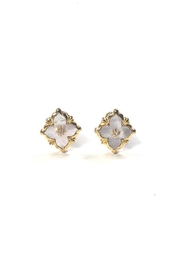 Lets Accessorize Art-Deco Clover Earrings - Product Mini Image
