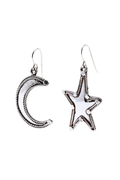 Shoptiques Product: Moon And Star Earrings