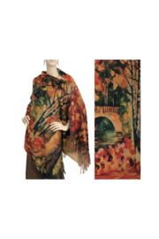 Magic Scarf Art Shawl in Suede Cloth - #20 - Front cropped