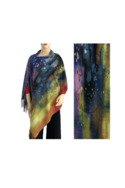 Magic Scarf Art Shawl in Suede Cloth - #26 - Front cropped