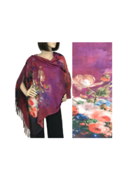 Magic Scarf Art Shawl in Suede Cloth - #39 - Front cropped