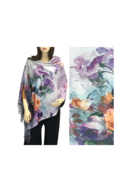 Magic Scarf Art Shawl in Suede Cloth - #40 - Front cropped