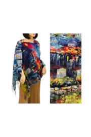 Magic Scarf Art Shawl/Poncho - Lightweight #08 - Front cropped