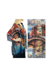 Magic Scarf Art Shawl/Poncho - Lightweight #15 - Front cropped