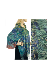 Magic Scarf Art Shawl/Poncho - Lightweight #13 - Front cropped