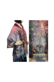 Magic Scarf Art Shawl/Poncho - Lightweight #25 - Front cropped