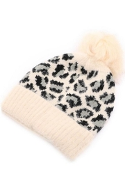 Art Box Leopard Pom Beanie - Front full body