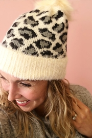 Art Box Leopard Pom Beanie - Product Mini Image