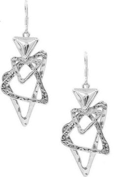 Shoptiques Product: Open Triangle Earrings