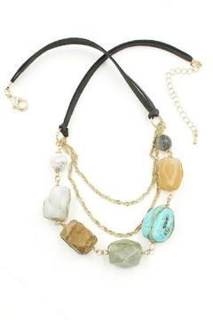 Shoptiques Product: Suede & Stone Necklace