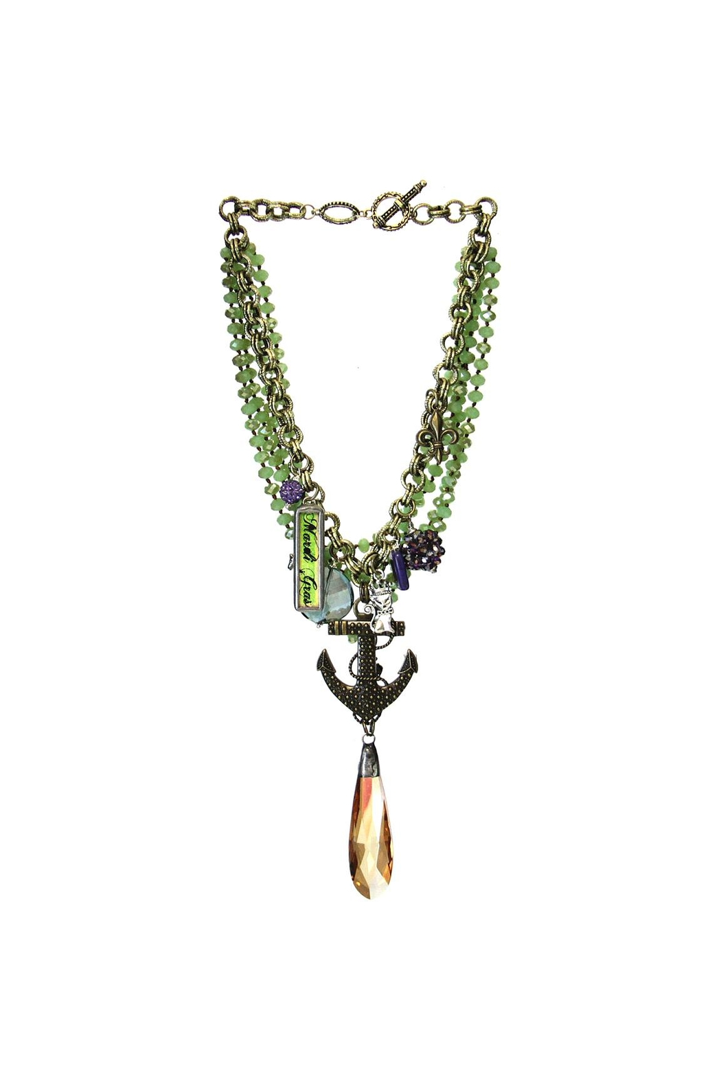 Art By Amy Mardi Gras Necklace-Anchor - Main Image