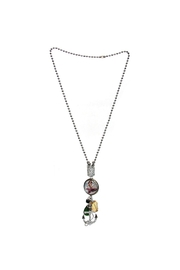 Art By Amy Mardi-Gras Necklace-Mermaid Pendant - Front full body