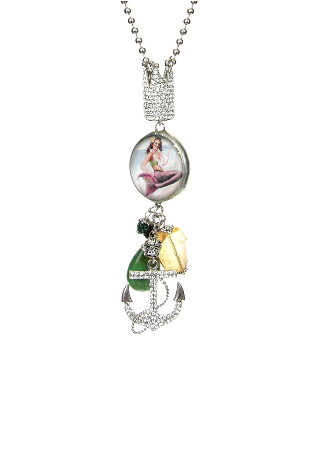 Art By Amy Mardi-Gras Necklace-Mermaid Pendant - Main Image