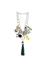 Art By Amy Mardi-Gras Necklace-Skull Tassel - Front cropped