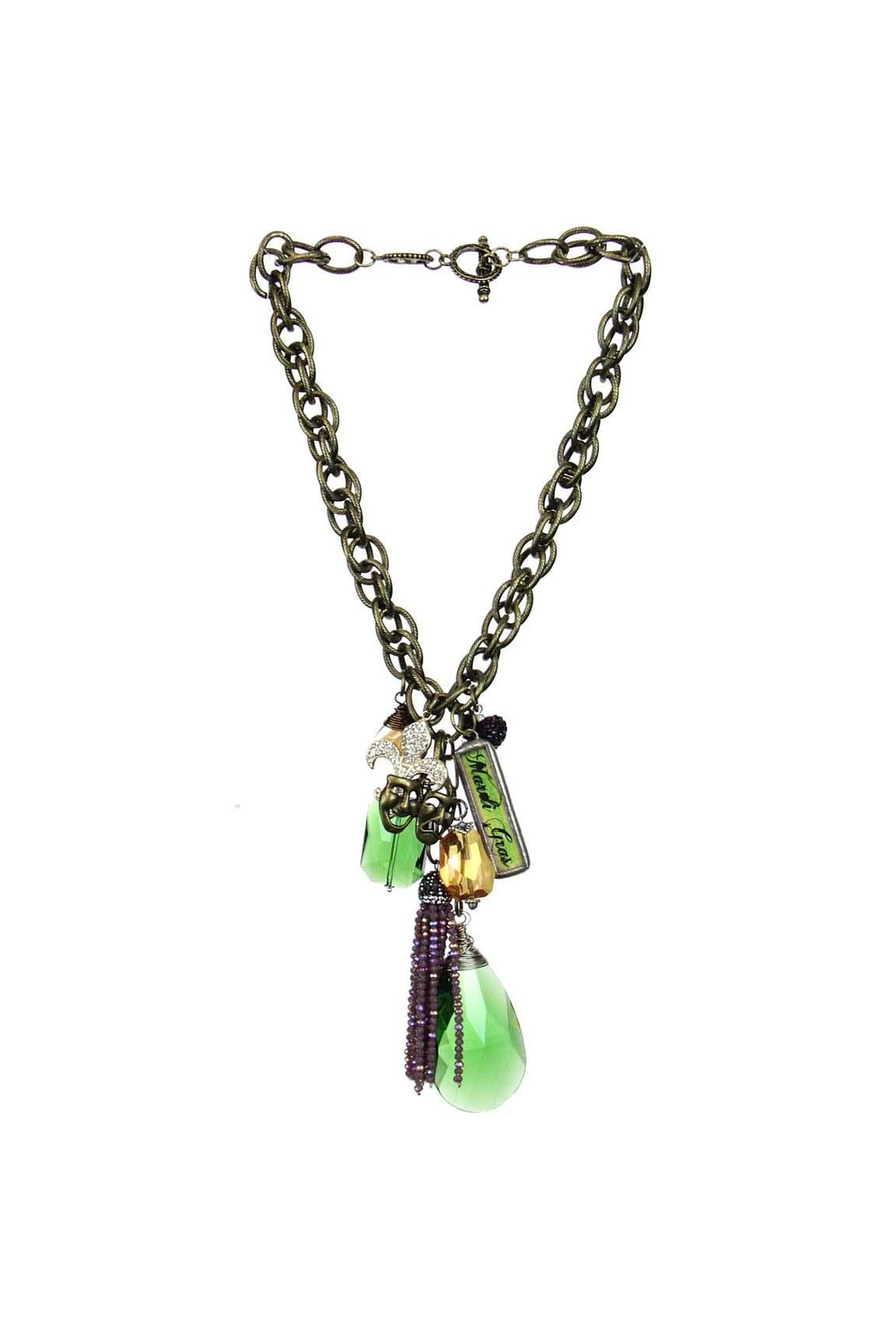 Art By Amy Mardi Gras Necklace-Tassel - Main Image