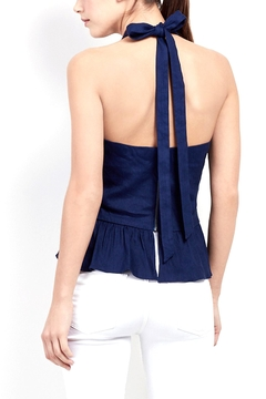 Artelier Nicole MIller Stretch Linen Halter Top - Alternate List Image