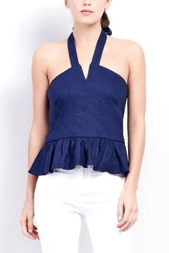 Artelier Nicole MIller Stretch Linen Halter Top - Product List Image