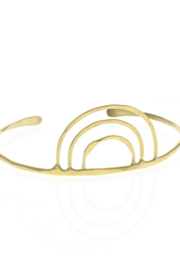 Lotus Jewelry Artemis Cuff Bracelet Gold - Product Mini Image