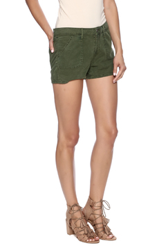 Shoptiques Product: Army Green Denim Shorts
