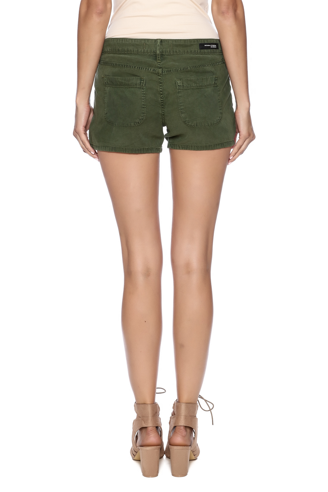 Articles of Society Army Green Denim Shorts from Fayetteville by ...