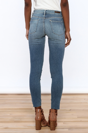 Articles of Society Dark Denim Distressed Jeans - Back cropped
