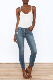 Articles of Society Dark Denim Distressed Jeans - Front full body