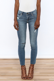 Articles of Society Dark Denim Distressed Jeans - Side cropped
