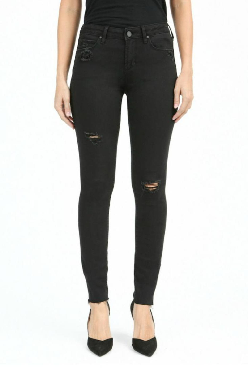 Articles of Society Black Distressed Skinnies - Main Image
