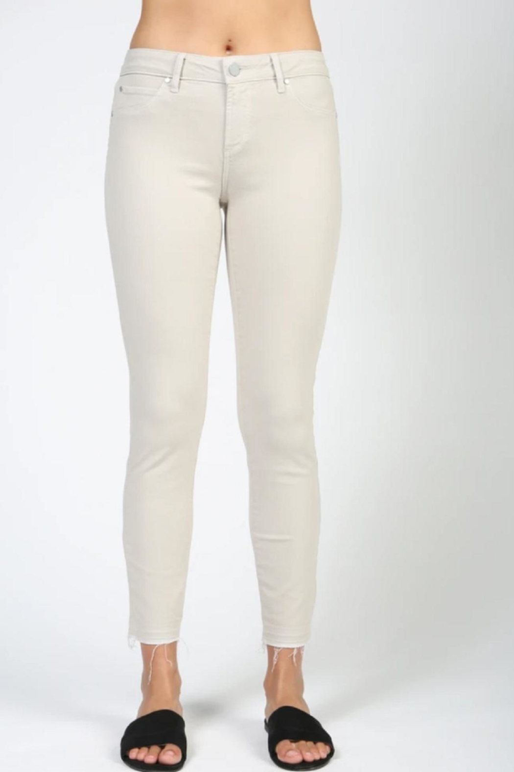 Articles of Society Carlin-Cropped White Skinny - Front Cropped Image