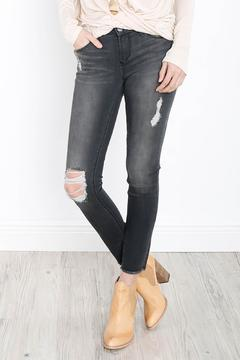 Shoptiques Product: Gray Distressed Jeans