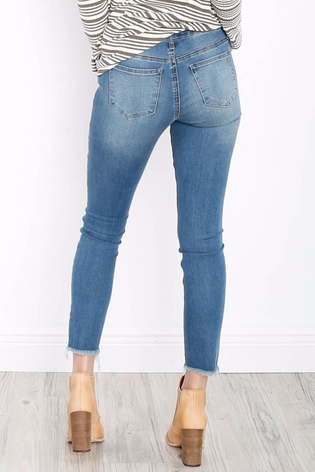 Articles of Society Carly Skinny Crop Jeans - Front Full Image