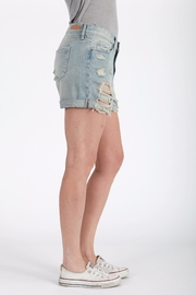 Articles of Society Distressed Denim Shorts - Front full body