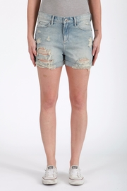 Articles of Society Distressed Denim Shorts - Front cropped