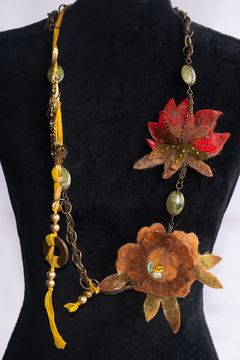 Handmade by CA artist Artisan Autumn Inspired Necklace - Product List Image