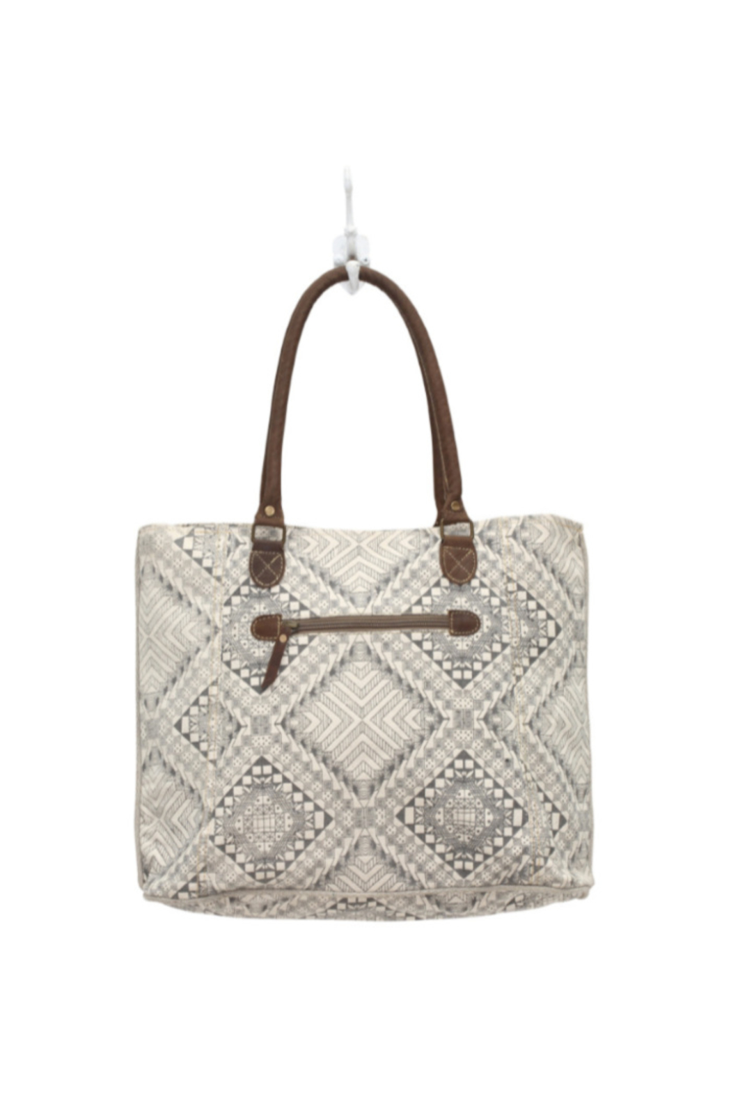 Myra Bags Artisan Canvas Tote Bag - Front Full Image