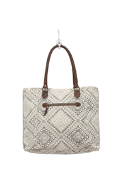 Myra Bags Artisan Canvas Tote Bag - Front full body