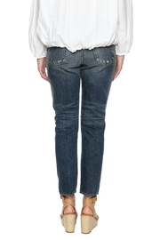Shoptiques Product: Indigo Patchwork Jean - Back cropped