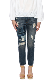Shoptiques Product: Indigo Patchwork Jean - Side cropped