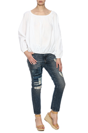 Shoptiques Product: Indigo Patchwork Jean - Front full body