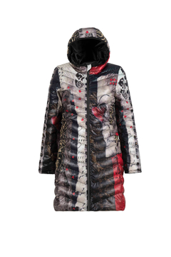 Shoptiques Product: Artist Quilted Zip-up Jacket with Hood