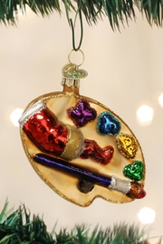 Old World Christmas Artist's Palette Ornament - Front cropped