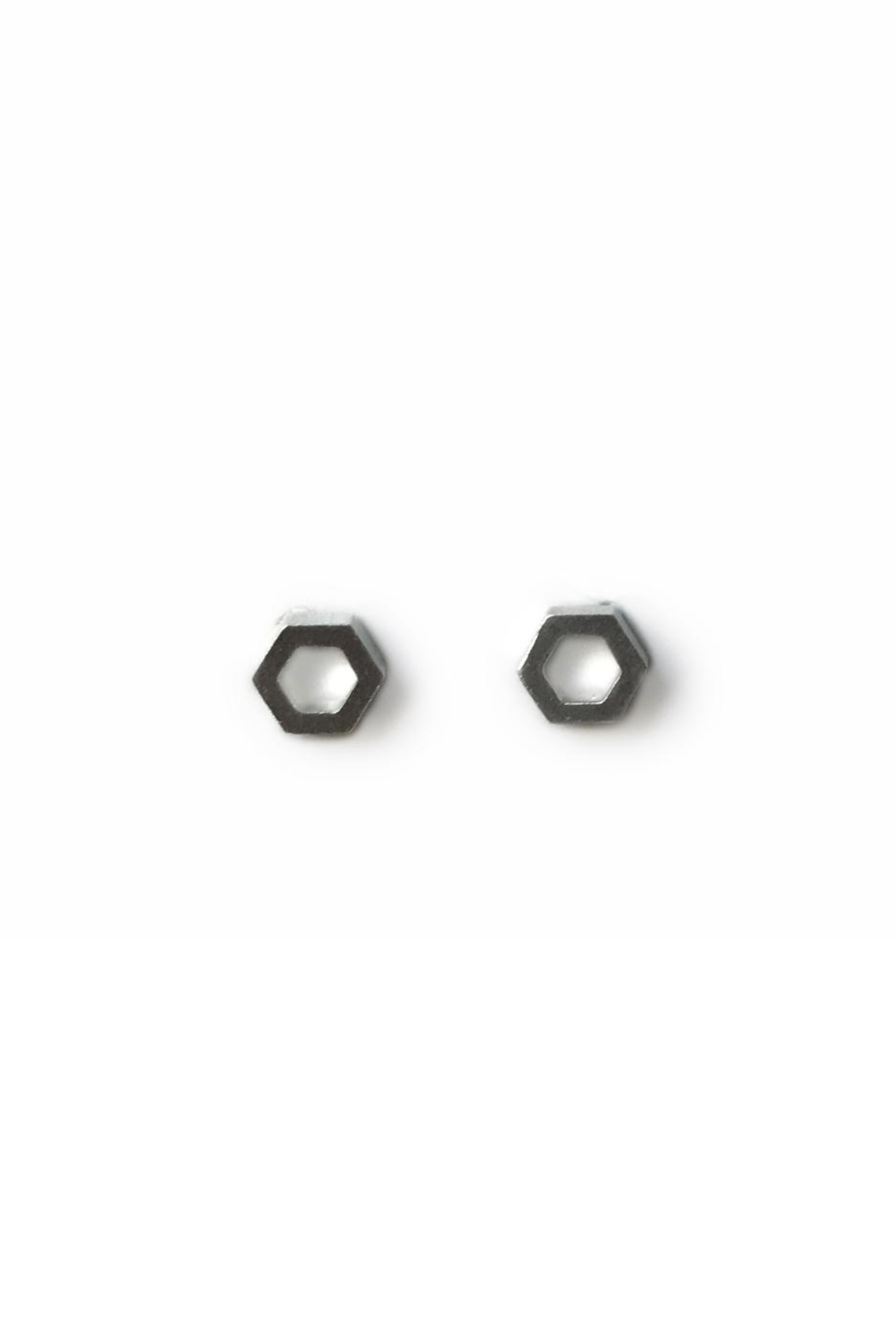 Artwear Designs  Hexagon Honeycomb Stud Earrings - Main Image