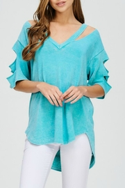 Imagine That Aruba Blue Top - Front cropped