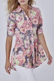 cino Aruba Geranium Button Tunic - Product Mini Image