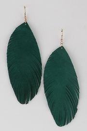 ADRIANA JEWERLY Arya Feather Earrings - Front cropped
