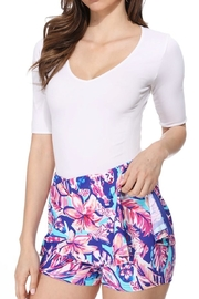 Aryeh Aqua And Pink Skort - Front cropped