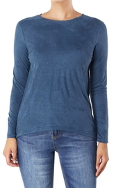 Aryeh Basic Suede Top - Product Mini Image